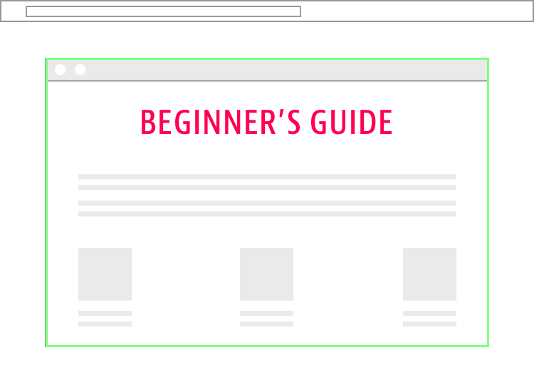 Beginner's Guide Landing Page